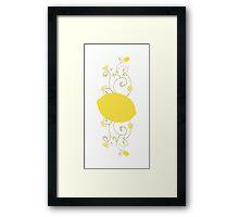 Lemon Swirl Graphic Framed Print