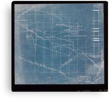 244 Sketch map showing location of 5 007 acres of Elkhorn Fork W Va coal timber lands Inverted Canvas Print