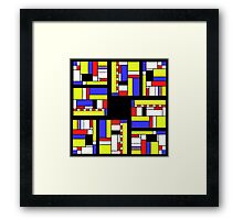 Yellow blue red white and black Framed Print
