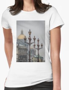 Street lights of Saint Petersburg  Womens Fitted T-Shirt