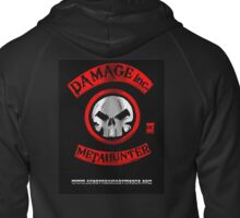Damage Inc Logo Zipped Hoodie