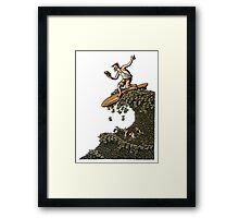 Surfing on a Wave of Money Framed Print
