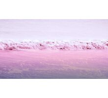 Pink beach Photographic Print
