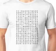 coffee word search puzzle Unisex T-Shirt