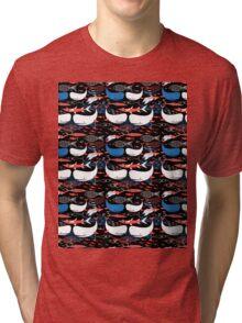 Seamless pattern of bright fish  Tri-blend T-Shirt