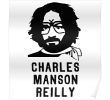 Charles Manson Reilly W/ Text Poster