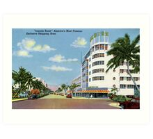 Fifties style Miami Lincoln road Exclusive shopping Art Print