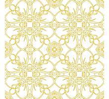 gold vintage pattern Photographic Print