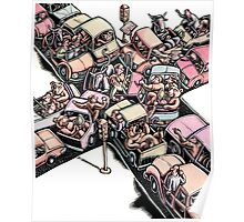 Traffic Jam with Bulls and Bears Poster