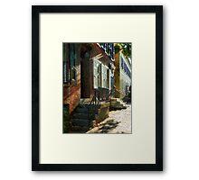 New Castle Delaware Street Framed Print