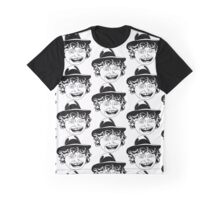 Tom Baker Black & White Portrait Graphic T-Shirt
