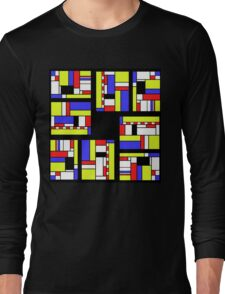 Yellow blue red white and black Long Sleeve T-Shirt