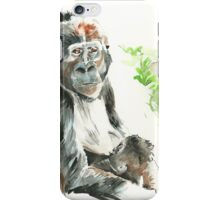 Gorilla Mother Nursing Gorilla Baby iPhone Case/Skin