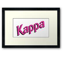 Kappa Sorority Barbie Logo Framed Print