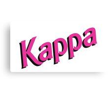 Kappa Sorority Barbie Logo Canvas Print