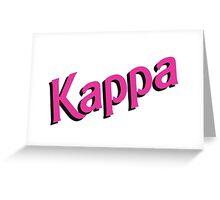 Kappa Sorority Barbie Logo Greeting Card