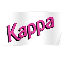 Kappa Sorority Barbie Logo Poster