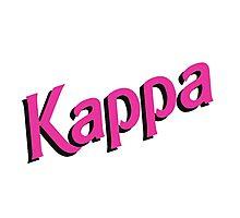 Kappa Sorority Barbie Logo Photographic Print