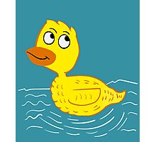 Wading Rubber Ducky Cartoon Photographic Print