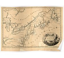 American Revolutionary War Era Maps 1750-1786 630 North America including the British colonies and the territories of the United States Poster