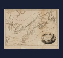 American Revolutionary War Era Maps 1750-1786 630 North America including the British colonies and the territories of the United States Kids Tee