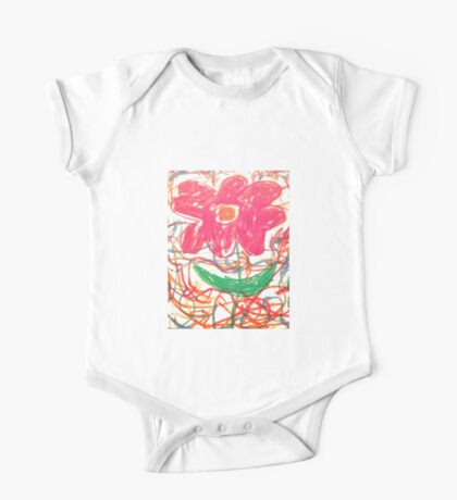 Preschool Flower One Piece - Short Sleeve