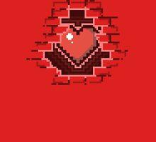 Bricked up - 8-bit Heart shirt Unisex T-Shirt