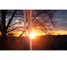 Icicle at Dawn Photographic Print