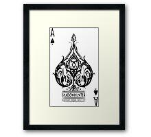 The Shadowhunters-poker Framed Print