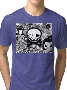 mikoto's Black & White Tri-blend T-Shirt