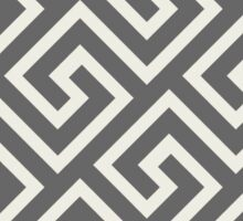 greek key labyrinth geometric pattern  Sticker