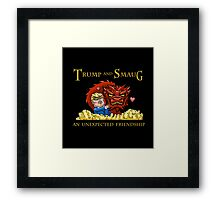 Trump and Smaug: An Unexpected Friendship Framed Print