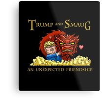 Trump and Smaug: An Unexpected Friendship Metal Print