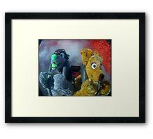 furry on a slingshot roller coaster in las vegas, 2005 Framed Print