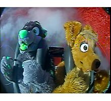 furry on a slingshot roller coaster in las vegas, 2005 Photographic Print