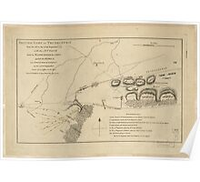American Revolutionary War Era Maps 1750-1786 354 British camp at Trudruffrin from the 18th to the 21st of September 1777 with the attack made by Major Poster