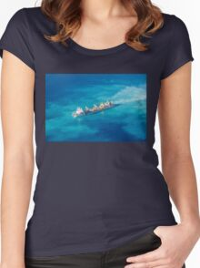 Ship creating new Atoll in the Maldives Women's Fitted Scoop T-Shirt