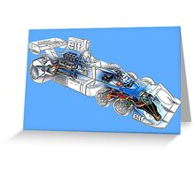 Tyrell P34 drawing mode black print Greeting Card
