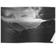 Total freedom - black and white landscape photography Poster