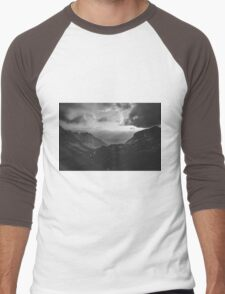 Total freedom - black and white landscape photography Men's Baseball ¾ T-Shirt