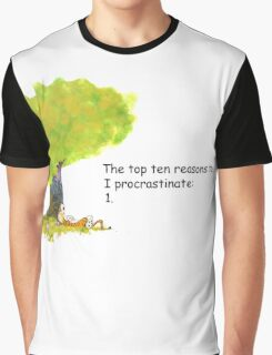 Calvin is a procrastinator Graphic T-Shirt