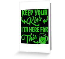 Funny St Patrick's Day Beer Drinking Humor Greeting Card