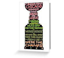 Crawford 2013 Stanley Cup Parade Speech - Color Outline Greeting Card