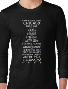Crawford 2013 Stanley Cup Parade Speech - White Long Sleeve T-Shirt