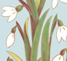 snowdrop flowers pattern grey Sticker