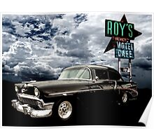 Stormy Chevy at Roy's on Route 66 Poster