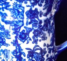 Blue and white stoneware jug Sticker