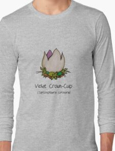 Violet Crown-Cup (no smiley face) Long Sleeve T-Shirt