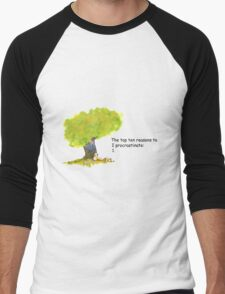 Calvin is a procrastinator Men's Baseball ¾ T-Shirt