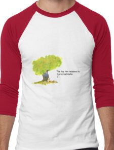 Calvin is a procrastinator Men's Baseball ¾ T-Shirt